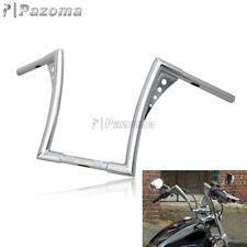 """Chrome 12"""" Rise Handlebars Ape Hangers Fat 1-1/4"""" Bars For Harley Sportster XL"""