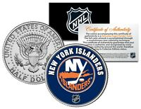 NEW YORK ISLANDERS NHL Hockey JFK Half Dollar U.S. Coin - OFFICIALLY LICENSED