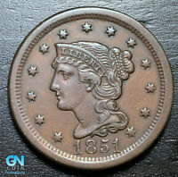1851 Braided Hair Large Cent --  MAKE US AN OFFER!  #B3705