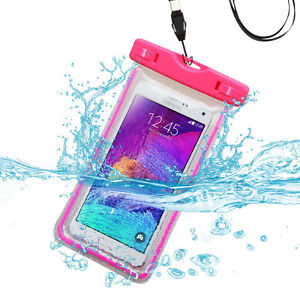 Universal Hot Pink Lightning Waterproof Pouch (with Lanyard) for Galaxy S8 Plus