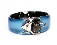 Alexis Biitar Women's Blue Hinge Crystal Bracelet 0703
