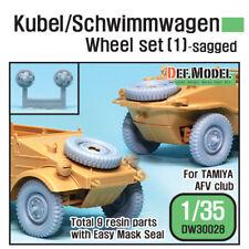 DEF. MODEL, WWII Kubel/Schwimmwagen Wheel set (1) (for Tamiya,AFV, DW30028, 1:35