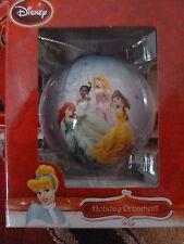 NEW Disney Princess - Glass Ball Ornament - 9 Princesses - Belle Ariel Snow Tia