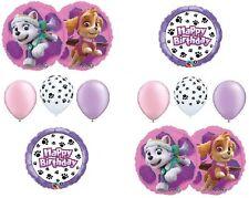 PAW PATROL Girl's Dog Skye Everest Pink 10 Pc Party Mylar & Latex Balloons Set