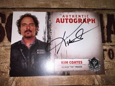 """Sons Of Anarchy Authentic Autograph Card Of Kim Coates As Alex """"Tig"""" Trager."""