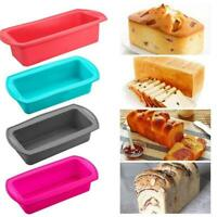Silicone Non Stick Cake Baking Mold Toast Bread Candy Bakeware Pan Mould Kitchen
