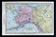 1899 Cram Map Alaska Klondike Region Dawson Canada Yukon Juneau Fairbanks Sitka