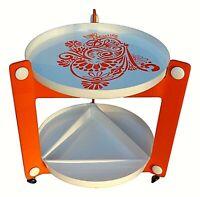 tavolino carrello in abs design luigi massoni per guzzini anni 70 vintage