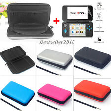 2017 For Nintendo 2DS XL EVA Hard Carrying Case Bag Cover +2Pcs Screen Protector