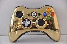 Official Microsoft Xbox 360 Wireless Special Edition Controller - Chrome Gold