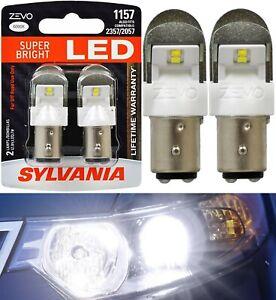 Sylvania ZEVO LED Light 1157 White 6000K Two Bulbs Front Turn Signal Replace OE
