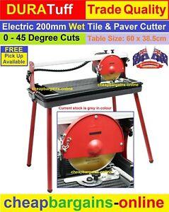 200mm ELECTRIC WET TILE CUTTER TABLE SAW DIAMOND BLADE 45 deg CUT CERAMIC PAVERS