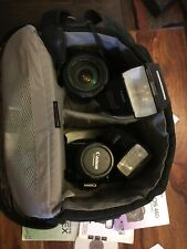 canon EOS 40D and canon EOS-1 N with lenses, flashes and case included