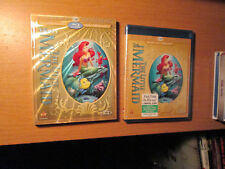 The Little Mermaid (Blu-ray/DVD,W/Digital Copy) With Slipcover New Disney OOP