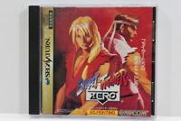Street Fighter ZERO 1 Alpha SEGA Saturn Japan Import US Seller G8535
