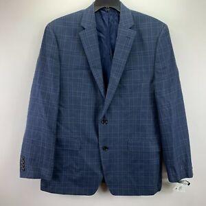 Lauren Ralph Lauren Mens UltraFlex Silk Wool Classic Fit Blazer Blue 42R