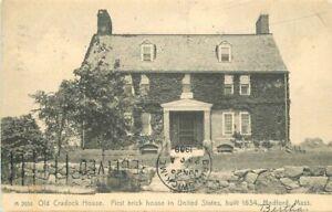 1908 Old Cradock House Medford Massachusetts #A2934 Postcard Rotograph 21-1800