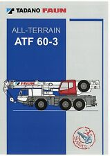 Tadano Faun ATF 60-3 Prospekt D GB F E 2005 Autokran mobile crane grue brochure