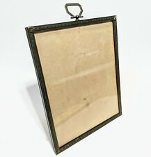 "Mid-century modern photo frame 7.5 by 9.75"" Gold Tone Vintage"
