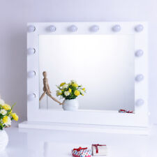 Chende White Hollywood Makeup Vanity Mirror with Light Stage Large Beauty Mirror