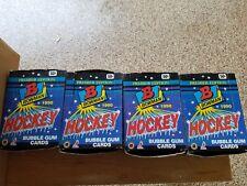 Lot (2) 1990-91 BOWMAN Hockey Wax Boxes  PREMIER EDITION Belfour Madano ROOKIES