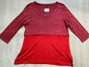BODEN red & burgundy colourblock  top size 14  NEW