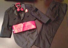 New Boy Formal Suit Tuxedo Black Size 2T.