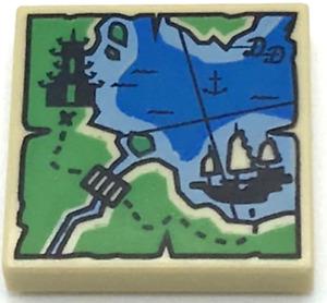Lego New Tan Tile 2 x 2 Groove Map Ninjago Pagoda Ship Piece