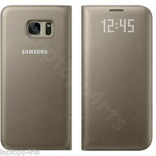 Genuine Samsung Galaxy S7 Edge Flip Wallet With Card Holder Case Cover Gold