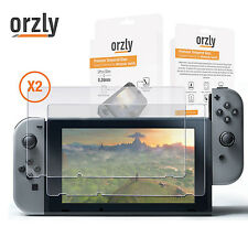 Premium Tempered Glass Screen Protector TWIN Pack for Nintendo Switch by Orzly