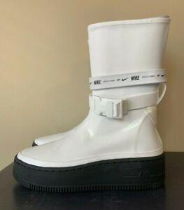 Nike Air Force 1 AF1 Sage Hi Womens Rainboots Waterproof White Black AQ2771-100