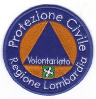 [Patch] PROTEZIONE CIVILE REGIONE LOMBARDIA cm 8 toppa ricamata ricamo -073g