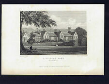 LITTLECOT PARK -Wiltshire -Great Britain Illustrated Engraving 1831