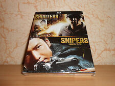 coffret 2 blu-ray films d'action SHOOTERS + SNIPERS - sous blister
