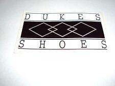Vintage Dukes Skateboarding Shoes Sticker, Decal, New, 3 X 5 Skate
