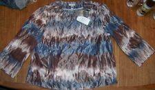Blazer Jacket Swing Chicos Tye Dyed Dream Darya Misses size 8/10 New