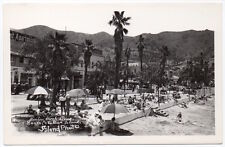 Real Photo Postcard Beach and Store Fronts in Catalina Island, California~106958