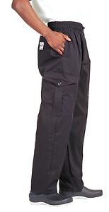 Dennys Le Chef Combat Chef Trousers - Black - Sizes XS-2XL - Unisex - New