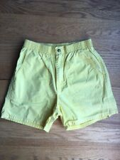 Vtg 80s 90s Op Yellow Cotton Board Shorts Mens M W-28-34 Beach Surf Skate Retro