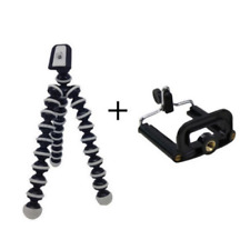 Portable Tripod For Camera Mini Flexible Stand with Mobile Phone Mount