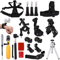 Chest+Head Strap Mount+Suction Cup for Sony Action Cam HDR-AS15/AS20/AS30/AS100V