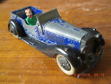 Dinky pre war British Salmson 4 Seater 36F with driver and smooth hubs