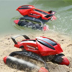 Amphibious Tank Remote Control Car Toys Dual-use All-terrain Stunt Car