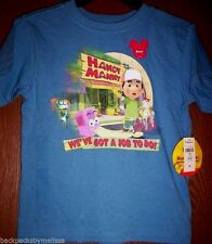 Handy MANNY Boy's 5T Blue Short Sleeve Shirt NeW Disney Store Tools Stretch