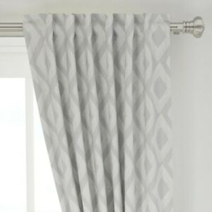 """Diamond And White Abstract 50"""" Wide Curtain Panel by Roostery"""