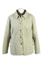 Vintage Barbour Quilted Womens Coat Jacket Smart Warm Outerwear 27 Cream - C1861