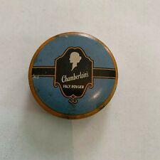 Vintage Chamberlain Face Powder Tin Des Moines Iowa