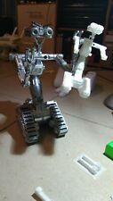 Johnny 5 corto circuito robot 30 cm stupendo! Short circuit decorato a mano!