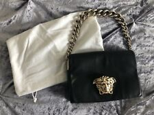 VERSACE Black and Gold Chain MEDUSA PALAZZO Handbag