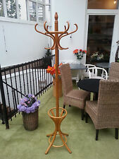New wood hanger hat and coat stand rack Hall Storage umbrella Hook Antique Style
